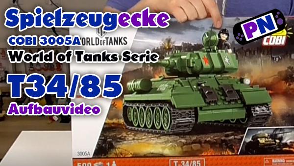 COBI Panzer T34-85 aus der World of Tanks Serie (3005A)
