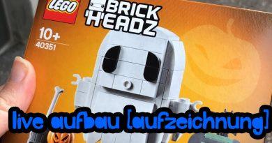 Live-Aufbau: LEGO® Halloween-Gespenst 40351 Brickhead [Aufzeichnung]