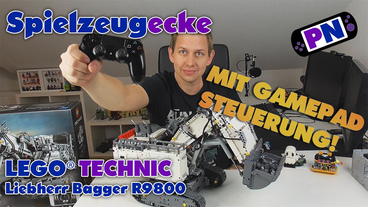LEGO® Liebherr R9800 (42100) + Gamepad Steuerung OHNE App! – Review
