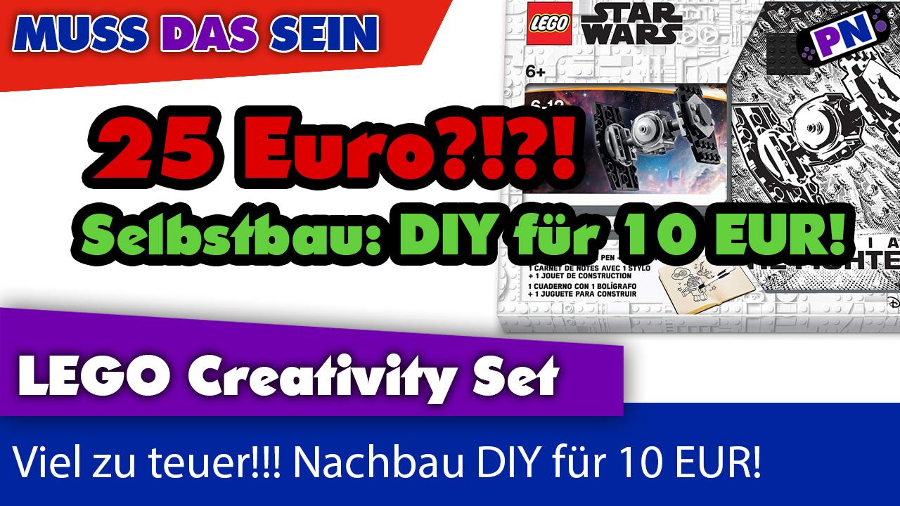 Muss das sein Notizbuch + Stift von LEGO® für 25 Euro?! Do it yourself für weniger Geld!