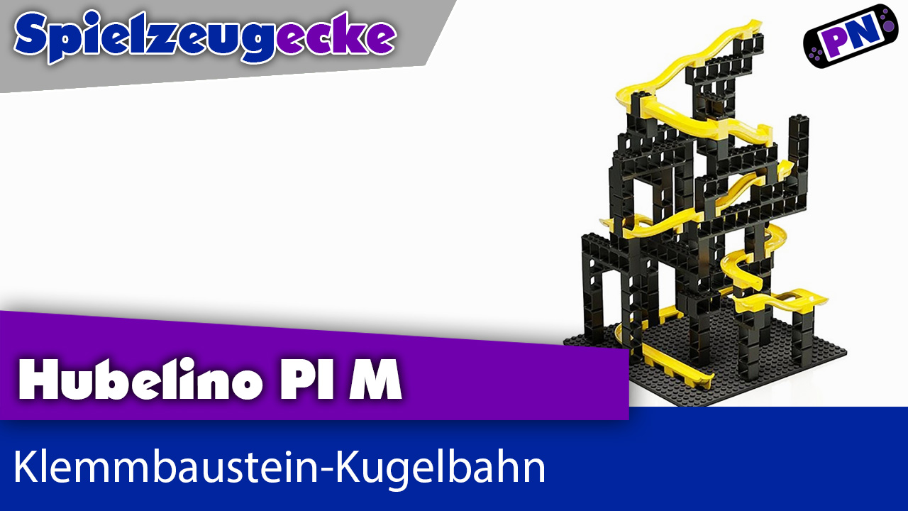 Kugelbahn mit Klemmbausteinen: Hubelino pi Marble Run M – Made in Germany! LEGO® Kompatibel!