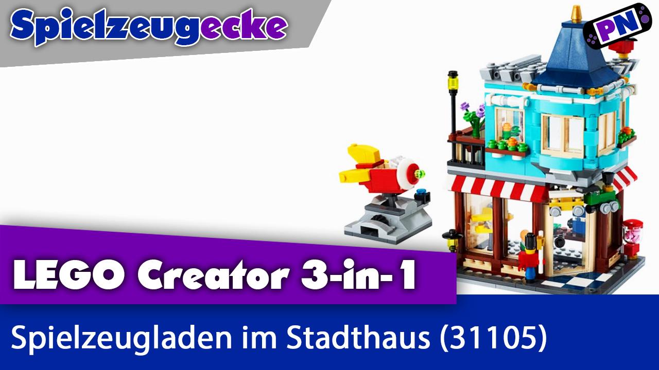 LEGO® Spielzeugladen im Stadthaus: Wenig Modulhaus für viel Geld? Plus MOC! (31105)