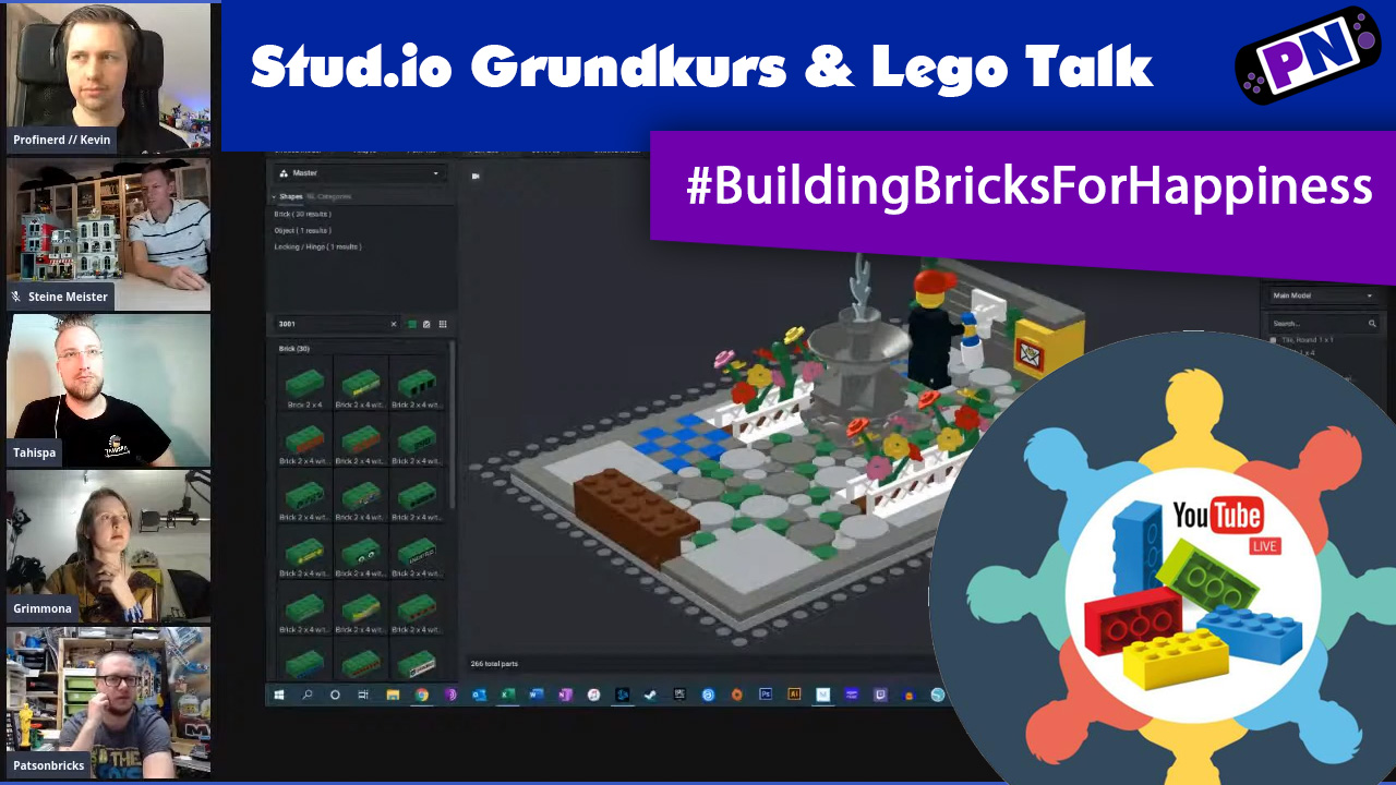 Building Bricks For Happiness: Stud.io Tutorial feat. Grimmona, Tahispa, Steine Meister
