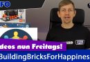 Info: Videos nun Freitags und #BuildingBricksForHappiness