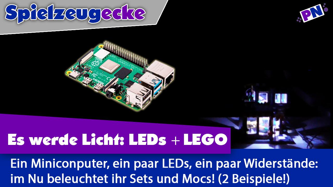 LEGO mit Rasperry Pi + LEDs beleuchten – mit 2 Beispielen + Anleitung