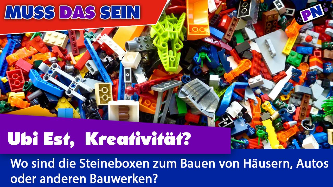 Ubi Est Krativität, LEGO? Ich will wieder Steineboxen mit ordentlichen Bricks!