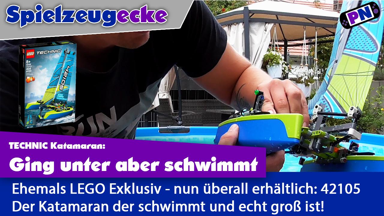 Sail Away: LEGO® TECHNIC 42105 Katamaran – mit Motor im Pool!