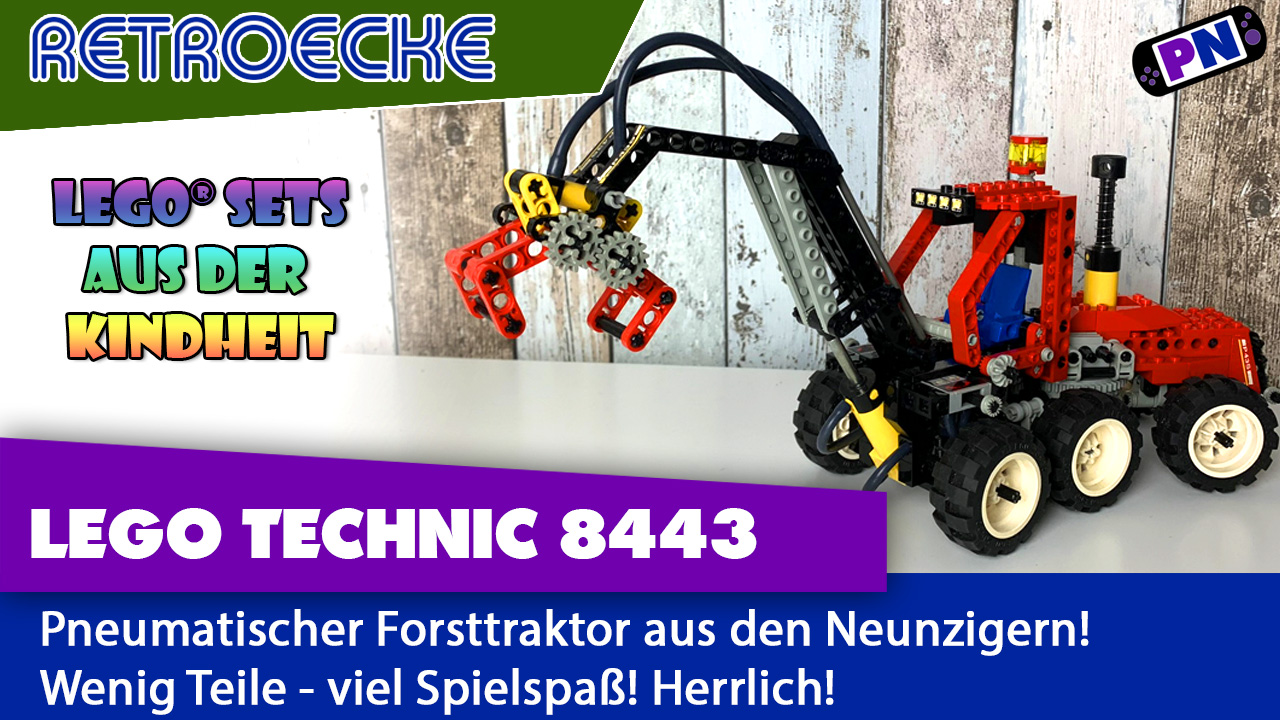 Alt, aber gut! LEGO® Pneumatic Forsttraktor – RETRO Review 8443