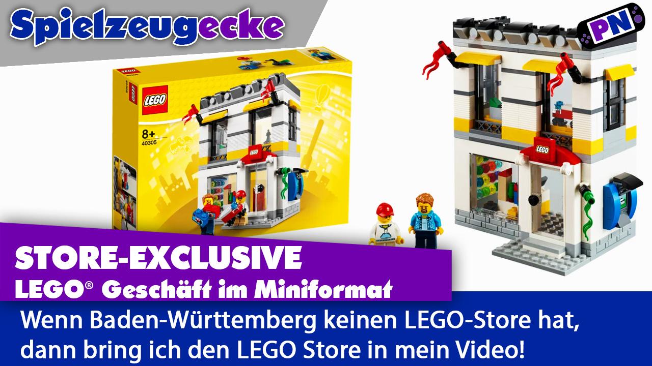 Endlich ein LEGO Store in Baden-Württemberg – zumindest aus LEGO! Review Mini-LEGO-Geschäfts (40305)