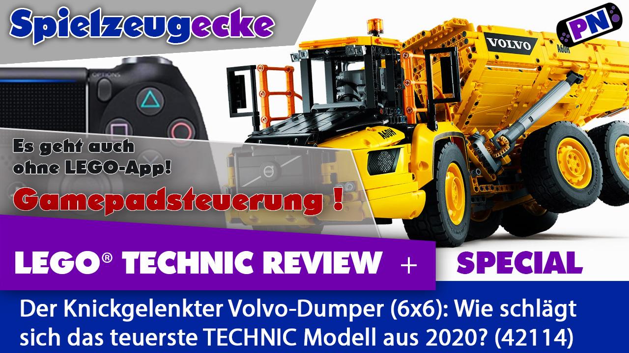 Knickgelenkter VOLVO-Dumper – ist der 250 Euro wert? LEGO® TECHNIC 42114 Review PLUS: Gamepadsteuerung!
