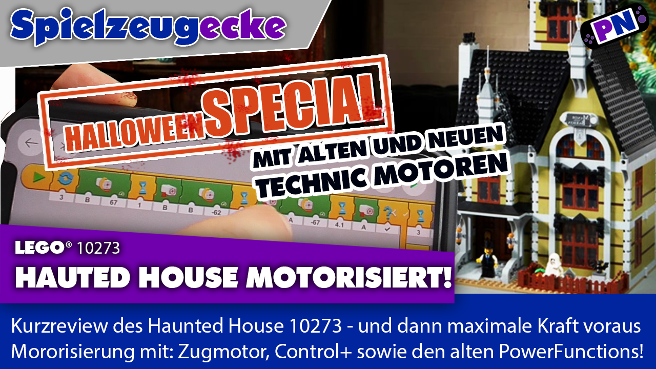 Motorisiert: Haunted House HALLOWEEN SPECIAL: Egal ob Zugbatteriebox, Control+ oder PowerFunctions: Es geht!