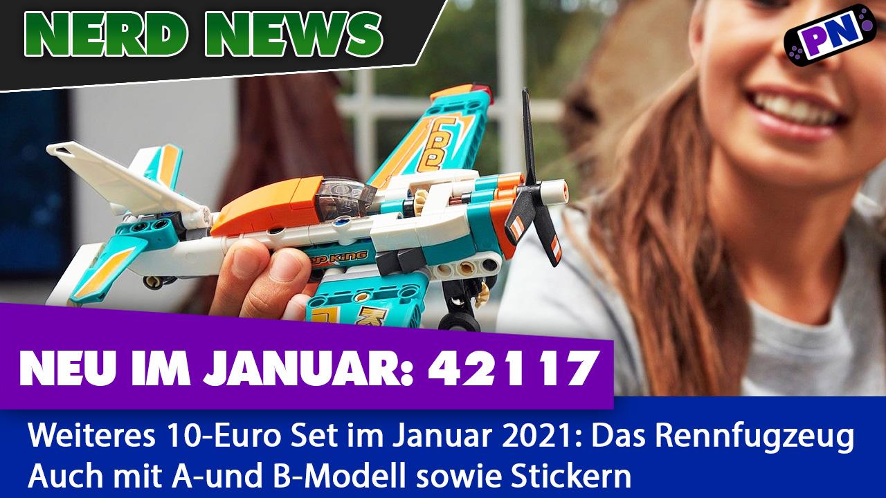 10 Euro Rennflugzeug: Noch eine LEGO TECHNIC Neuheit 2021 (42117)