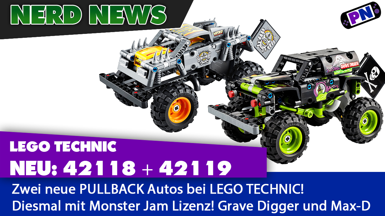 TECHNIC Pullback Neuheiten 2021: Monster Trucks! Grave Digger + MAX-D (42118 + 42119)