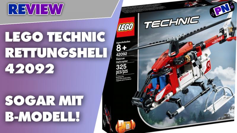 So geht Seilwinde! LEGO® TECHNIC 42092 Rettungshelikopter