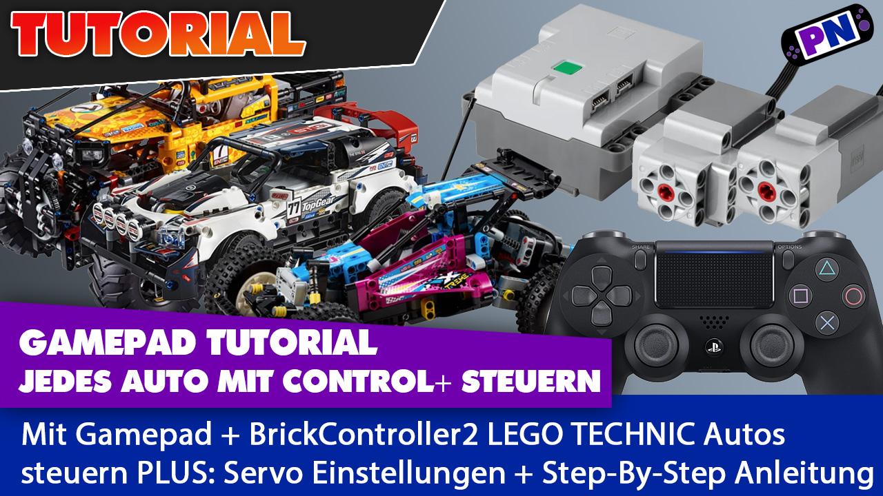 Tutorial: LEGO TECHNIC Autos mit Gamepad steuern und Servo einrichten!
