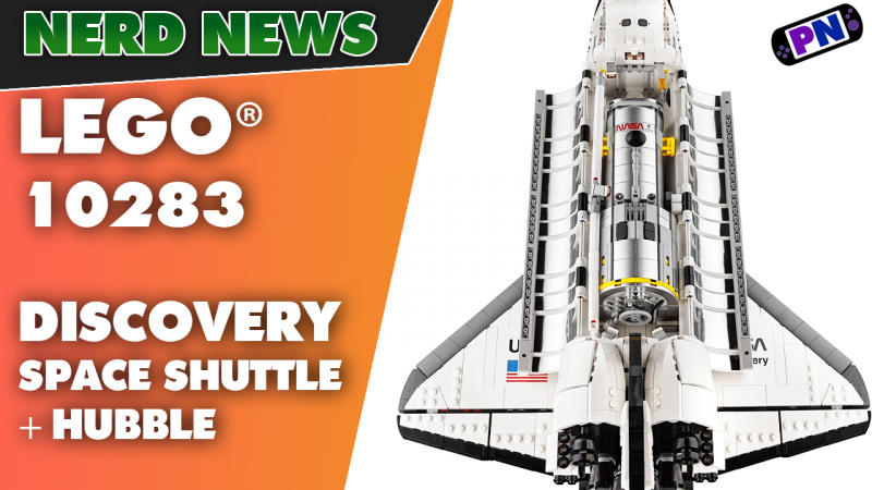 GELANDET! Discovery mit Hubble Telescope als 18+ NASA Space Shuttle zum 40-jährigen Jubiläum (10283)