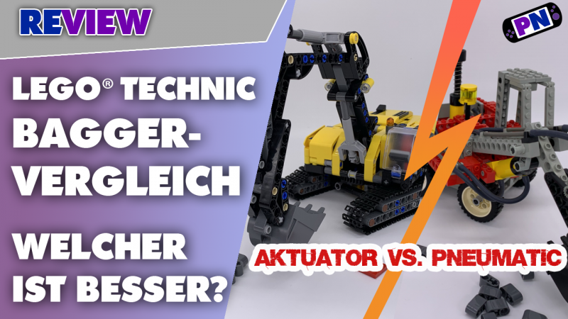 Fast 30 Jahre auseinander! Aktuator vs Pneumatik! LEGO® TECHNIC Bagger-Vergleich! 42121 vs. 8837!