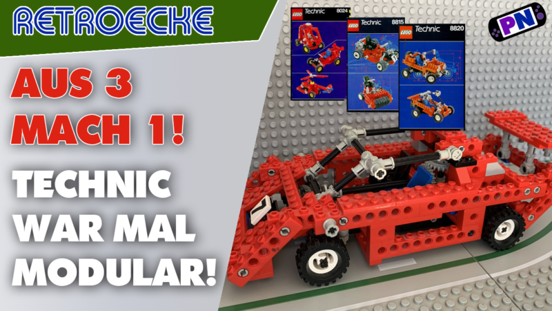 LEGO® TECHNIC konnte mal so viel! Aus 3 mach 1! Der Sportwagen aus drei Kleinmodellen 8024 + 8815 + 8820