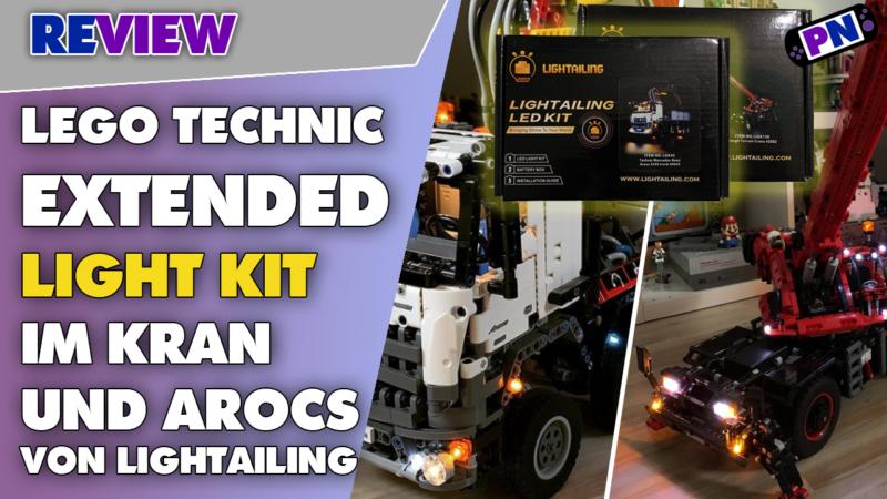 Was für ein Erlebnis! LEGO TECHNIC Mit Kits von Lightailing beleuchtet: Arocs + Kran (42043 + 42082)